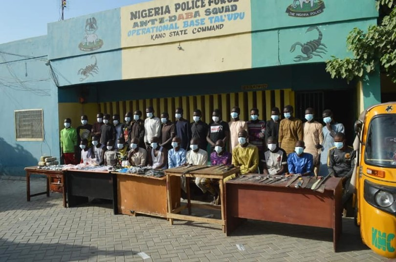 Police arrest 18 illicit drug dealers for supplying intoxicants to notorious thugs in Kano