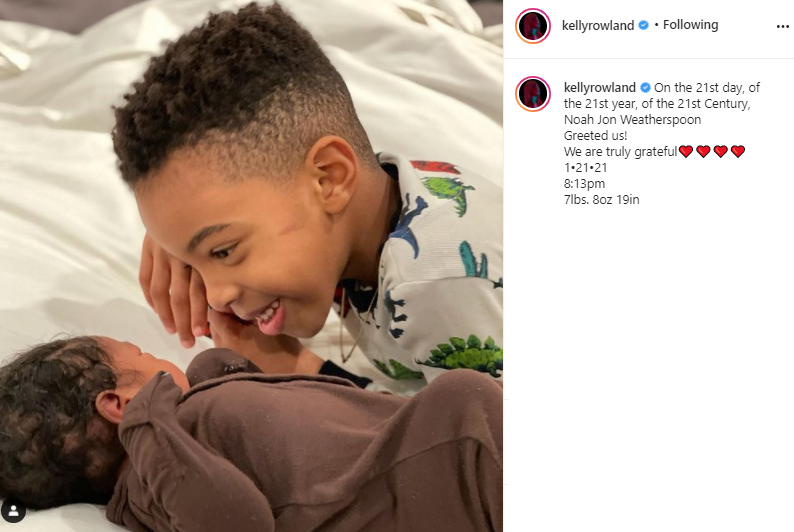 Kelly Rowland welcomes second child with husband Tim Weatherspoon, a baby boy (Photo)