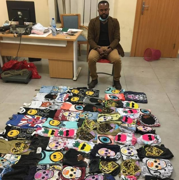 Nigerian drug trafficker who hides cocaine in t-shirts arrested by NDLEA