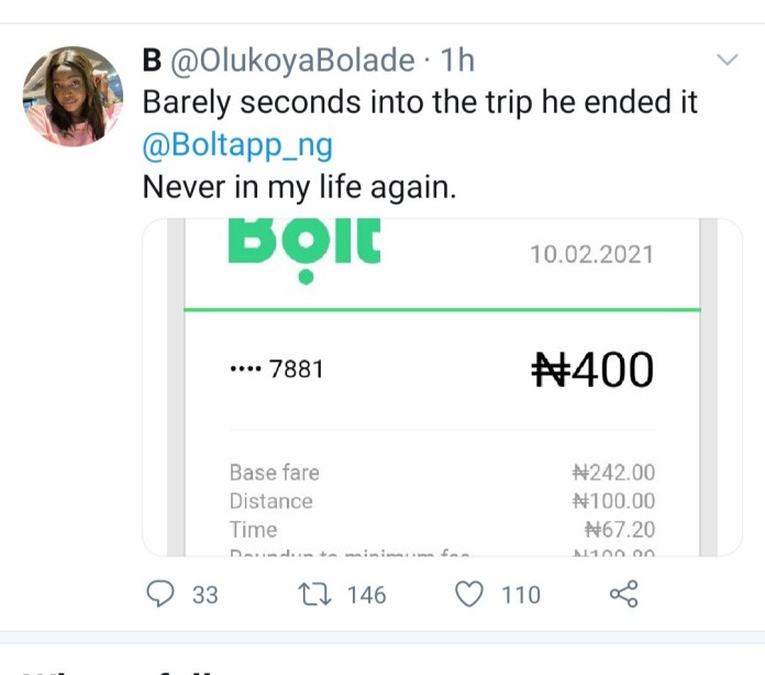Woman tweets her terror as Bolt driver allegedly refuses to let her out of his car after ending trip (videos)