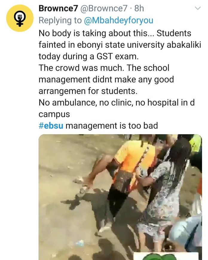 Three allegedly suffocate as hundreds of students struggle to write GST exam in overcrowded hall in EBSU (videos)