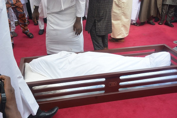 Ex-Lagos governor, Lateef Jakande, laid to rest (photos)