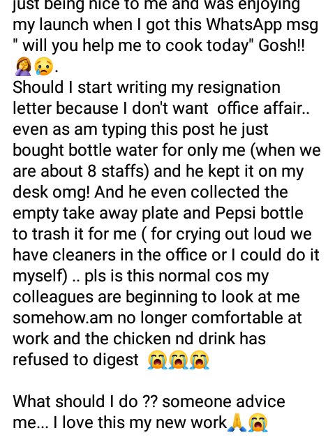 """""""My appointment letter says Secretary not a Cook"""" - Nigerian lady tells her boss after he asked her to cook for him on her first day at work"""