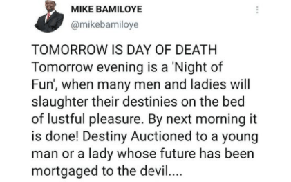Valentine?s Day: Many will slaughter their destinies on the bed of lustful pleasure - Clergyman Mike Bamiloye says