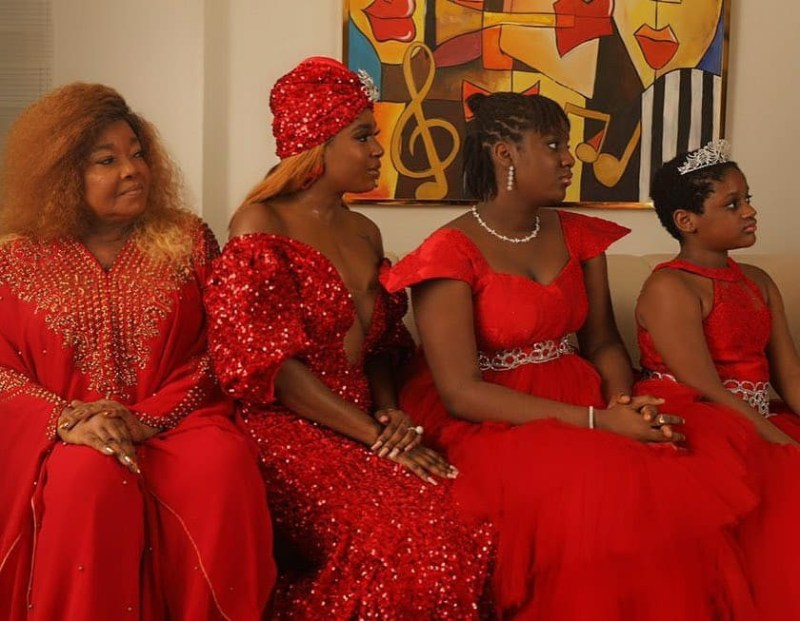Three generations of beauty! Annie Idibia poses with her mum and daughters in new photos