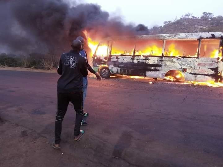Wikki Tourists FC involved in an accident, team bus burnt to ashes  (Photos/Video)