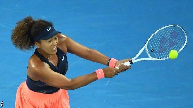 Naomi Osaka beats Jennifer Brady in women