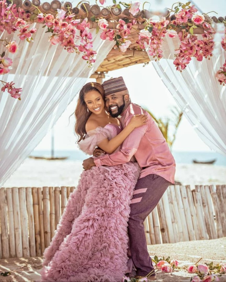 Banky W and Adesua Etomi welcome baby boy!