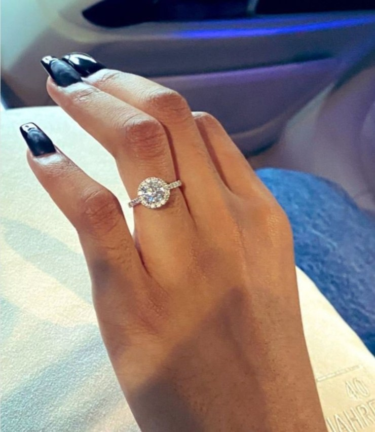 SA Rapper AKA engaged to Nelli Tembe; shares photos of her engagement ring