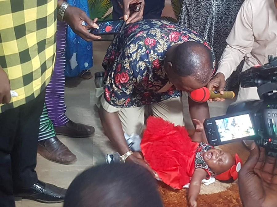 Nigerian pastor and his wife welcome first child after 25 years of marriage