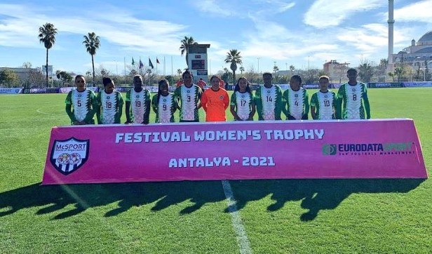 Super Falcons of Nigeria thrash Equitorial Guinea 9-0 to win Turkish Women?s Cup (photos)