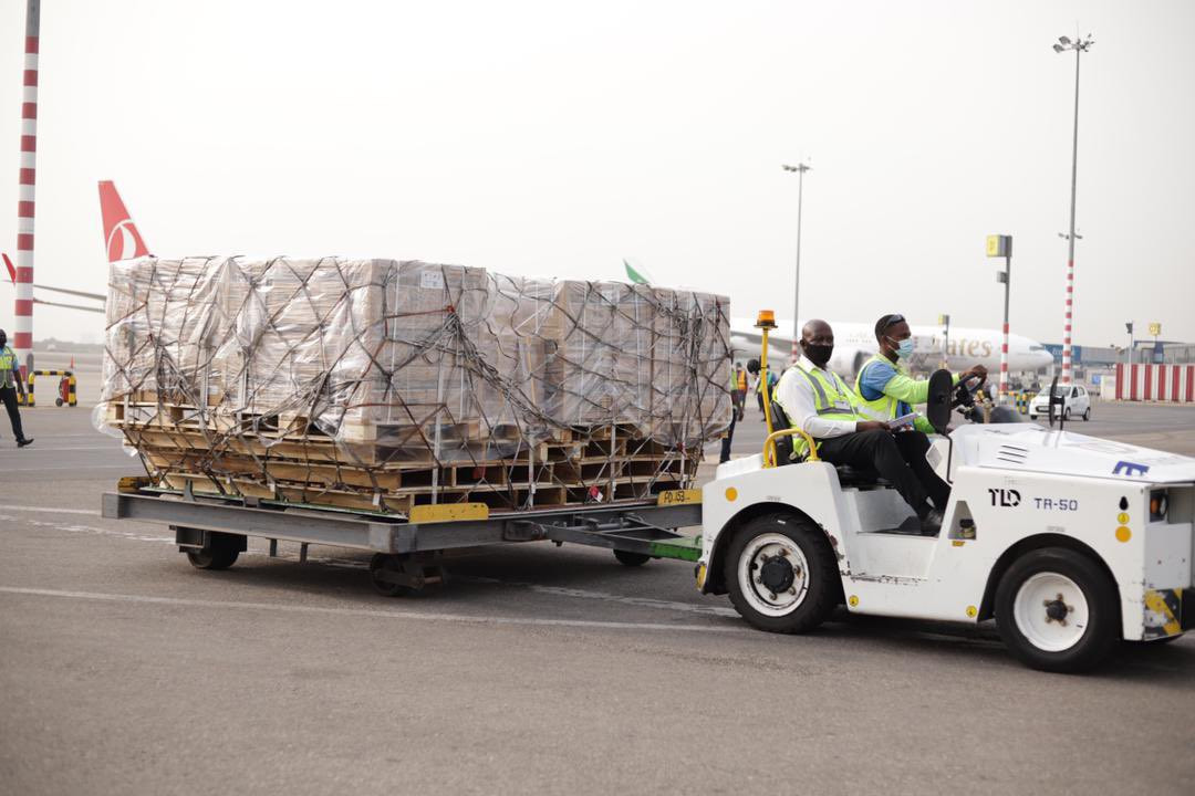 Ghana receives first batch of COVID19 vaccines (photos)