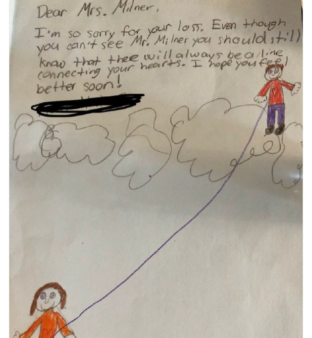 Widowed teacher shares heartwarming note she received from one of her students