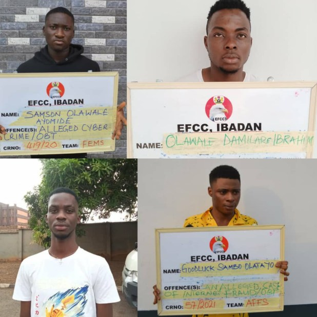 Convicted Yahoo boys in Abeokuta to refund $6,100 to victims