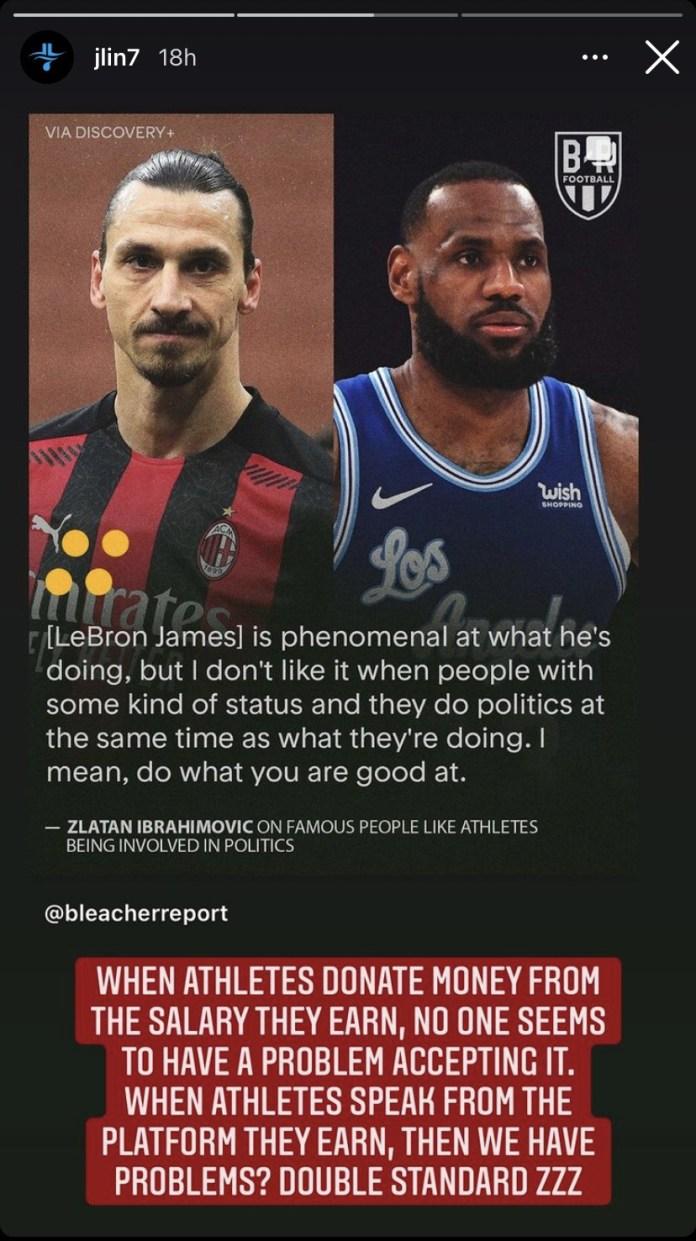 NBA stars come for Zlatan Ibrahimovic for criticizing LeBron James over his political activism