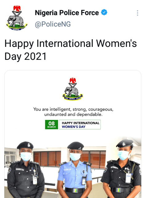 """One of your officers told me to he was taking me to the station at 2am to suck my boobs"" - Lady slams Nigeria Police Force over its International Women"