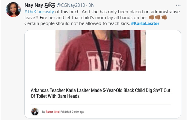 White teacher forces 5-year-old black child to wash a toilet with his bare hands