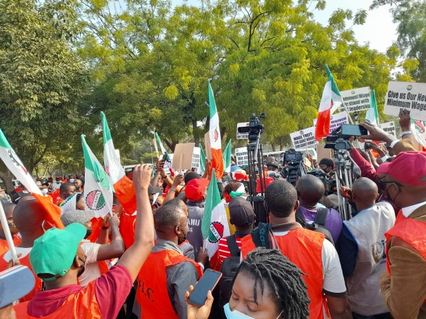 NLC and TUC members embark on nationwide protest (photos)