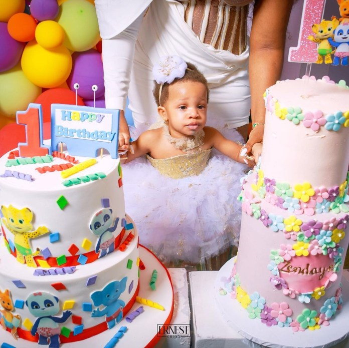 Photos from the birthday party of Zendaya, daughter of BBNaija stars, Bambam and Teddy A
