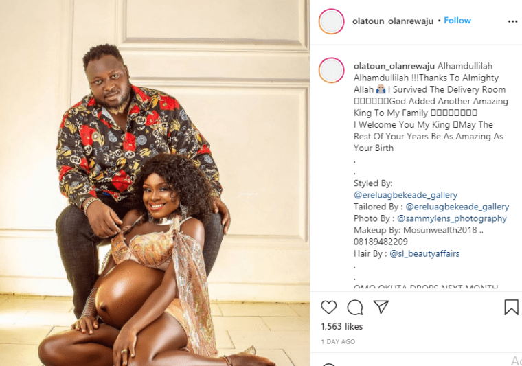 Actress Olatoun Olanrewaju and her husband welcome their second child