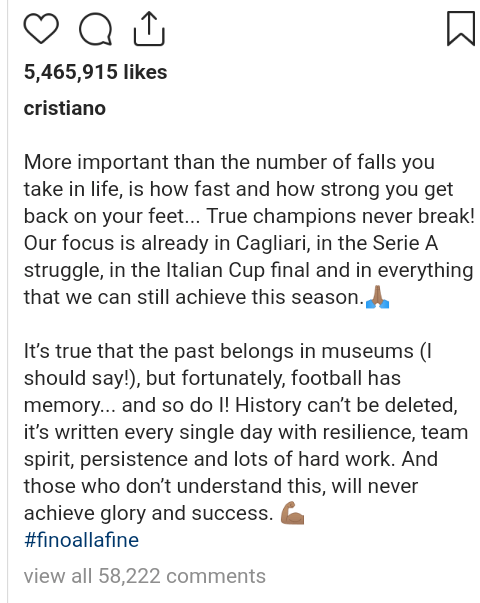 """True champions never break!"