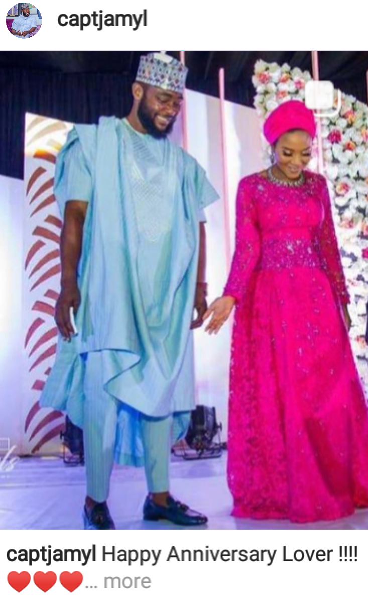 Fatima Dangote and Jamil Abubakar celebrate 3rd wedding anniversary