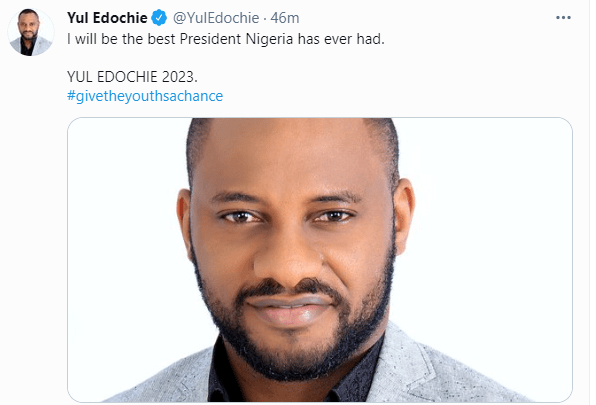 I will be the best President Nigeria has ever had - Actor Yul Edochie declares