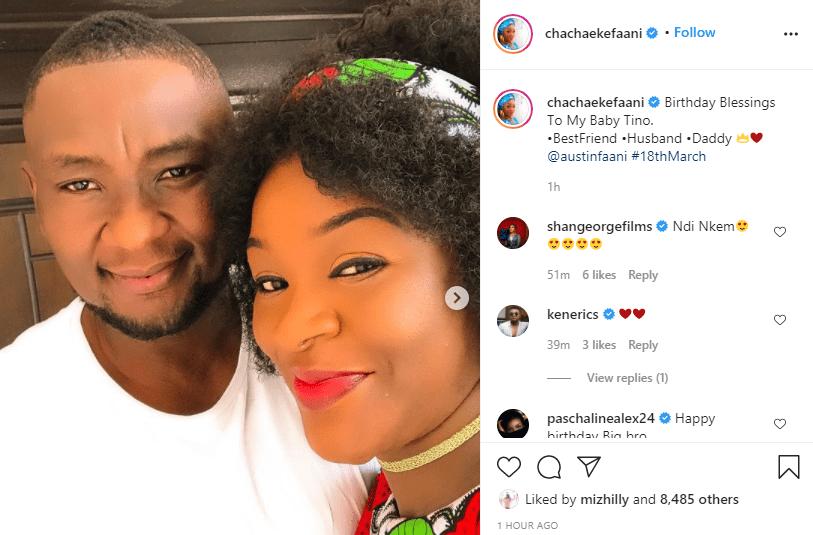 Chacha Eke celebrates her husband, Austin Faani on his birthday