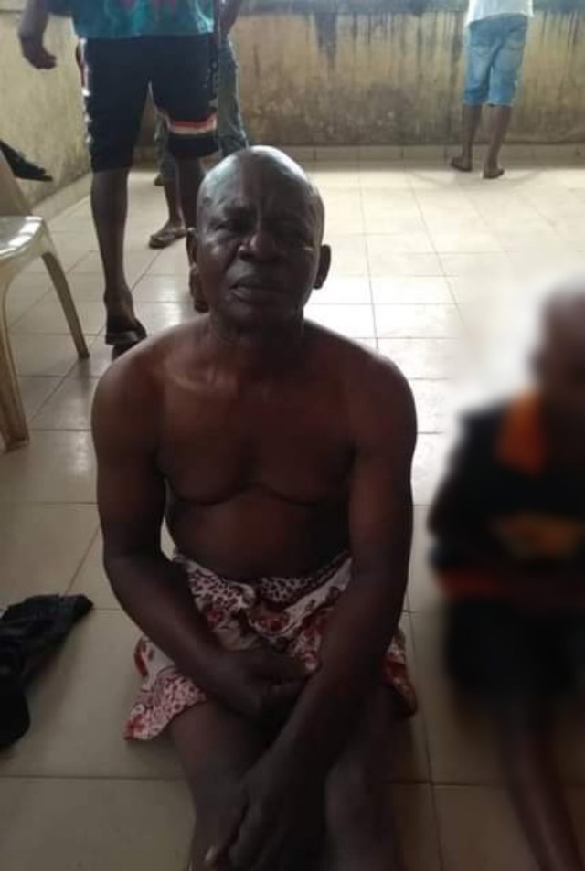 Elderly man allegedly caught raping 8-year-old girl in Abia community (photos)