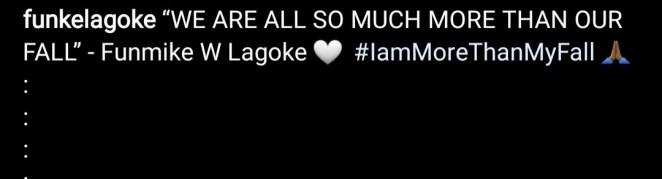 """I am more than my fall"" Nigeria"