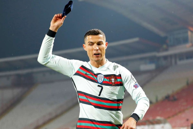 Cristiano Ronaldo risks FIFA sanction after he threw armband to ground and stormed off-pitch against Serbia