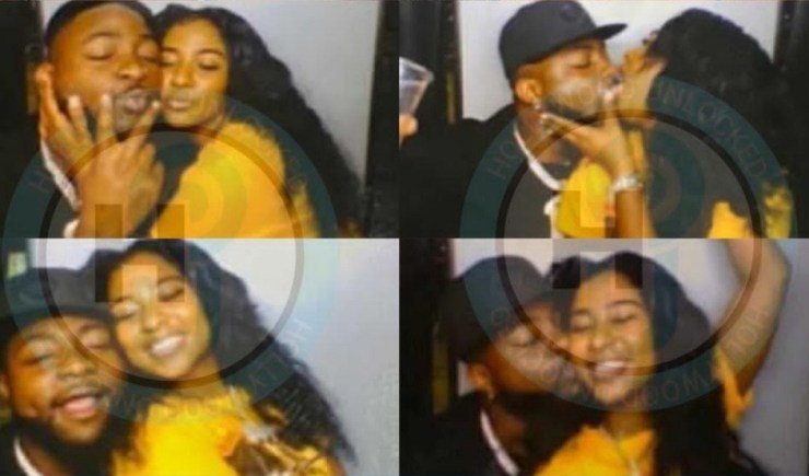 Nigerians react as Davido is pictured kissing Mya Yafai weeks after they were spotted holding hands