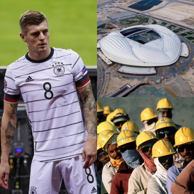 Footballer Toni Kroos reacts to plans by some countries to boycott the Qatar 2022 w/cup as reports allege 6,500 migrant workers have died in the country since 2010