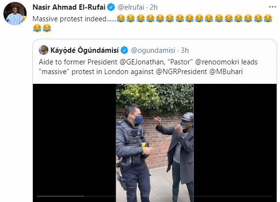 Governor El-Rufai mocks Reno Omokri over his UK protest against President Buhari 2