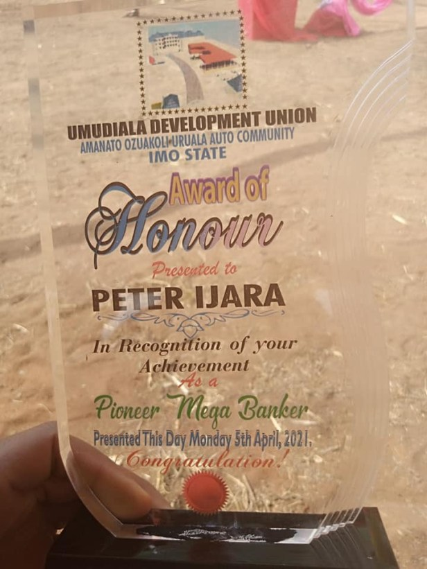 Imo community honours man for his achievement as the first banker in their history