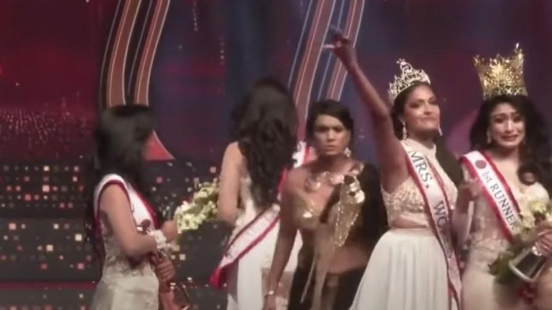 Watch Mrs. Sri Lanka lose her beauty queen crown after it