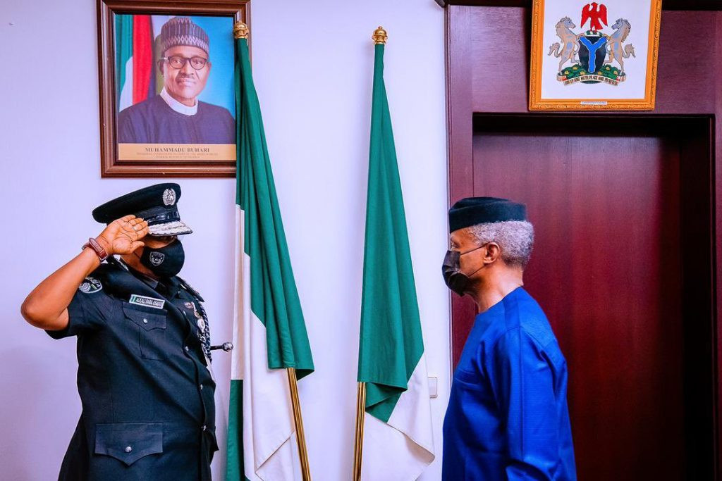 VP Yemi Osinbajo decorates Usman Alkali Baba as acting IGP (photos)