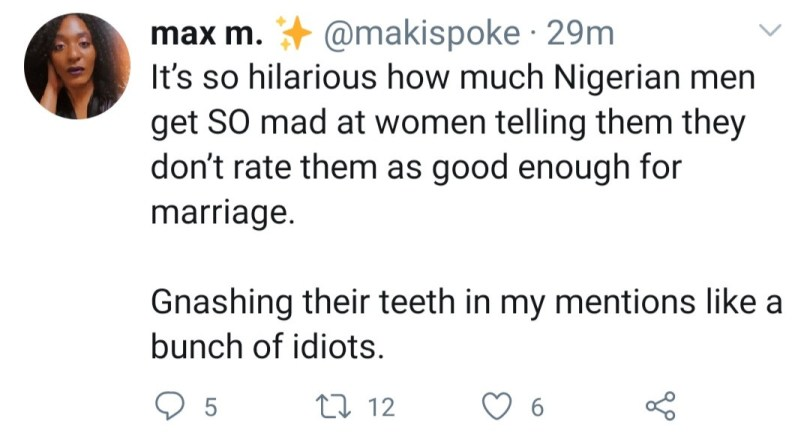 """""""Everything Nigerian men bring to the table, I already have"""" - Finance professional questions the value Nigerian men add to relationships"""