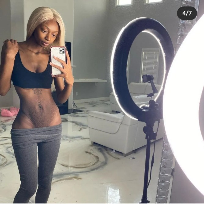 Youtube star, Kayla Nicole Jones hailed for being real as she shows off her post-baby body (photos)