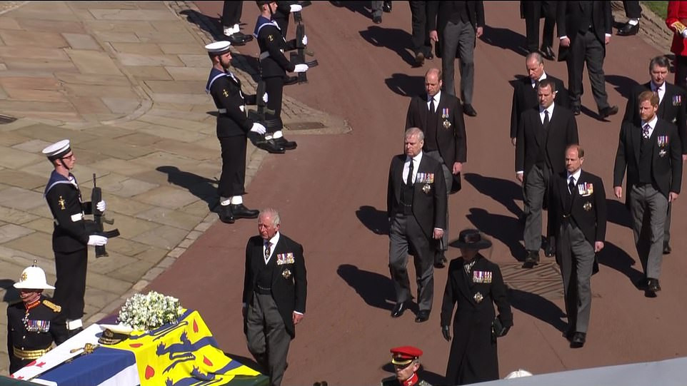 The Queen wipes away tears at Prince Philip