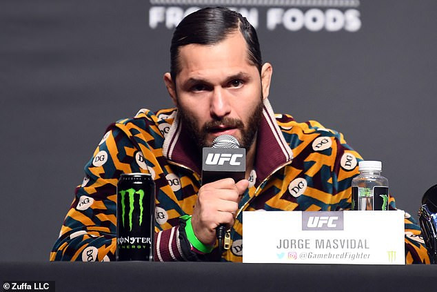 Nigerian UFC star, Kamaru Usman and Jorge Masvidal come face to face ahead of their highly-anticipated rematch on Saturday (photos)