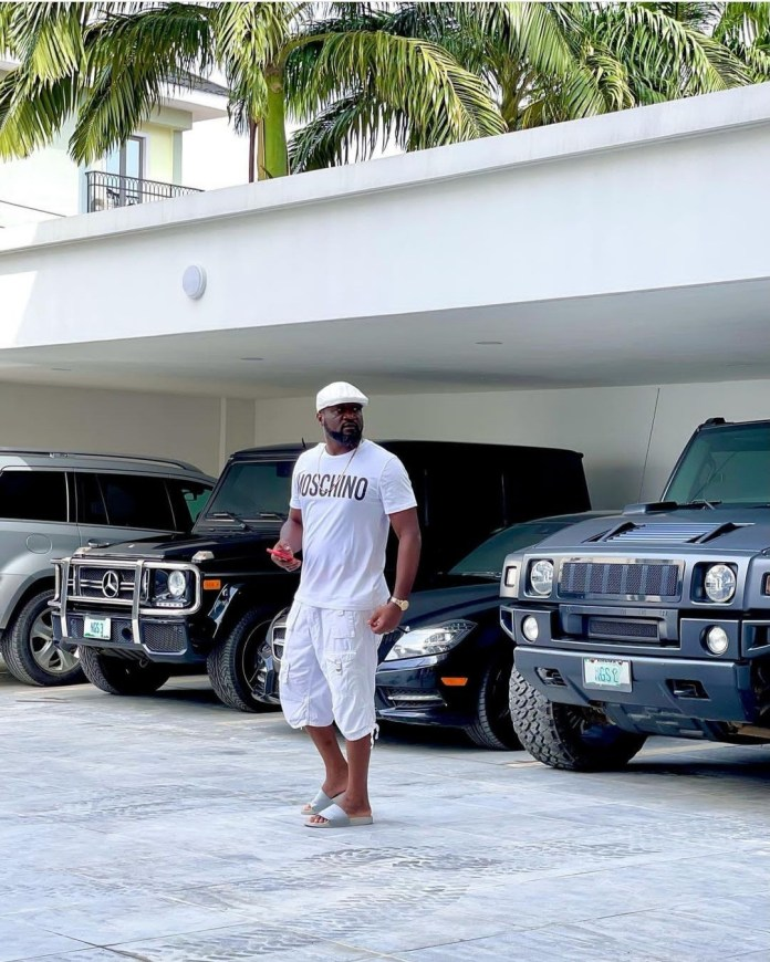Jude Okoye shows off his massive pool with a side pool for the kids and a lounge area (video)