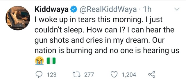 """I can hear the gunshots and cries in my dream"" BBNaija"
