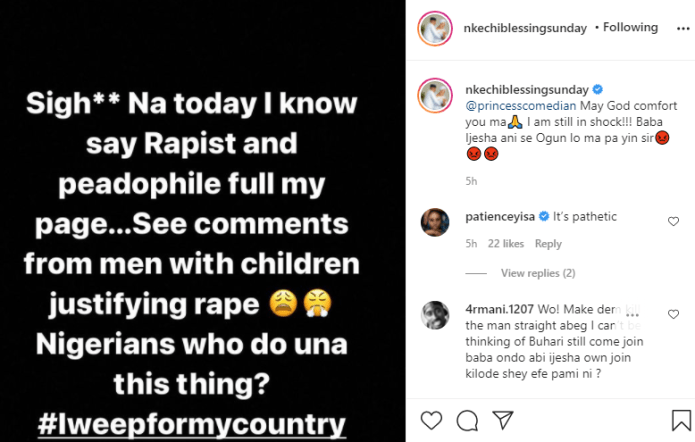 Rape allegation: Anyone supporting Baba Ijesha will taste from what he did to that little child - actress Nkechi Blessing Sunday vents