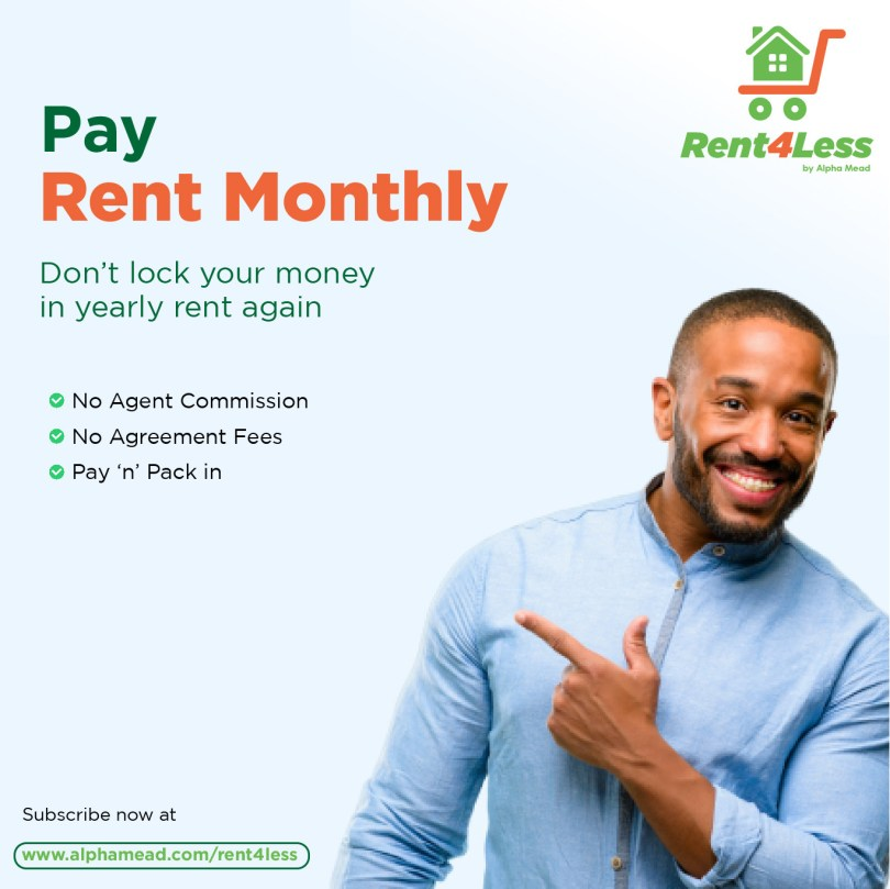Pay Rent Monthly with Rent4Less. Houses from N37k Monthly