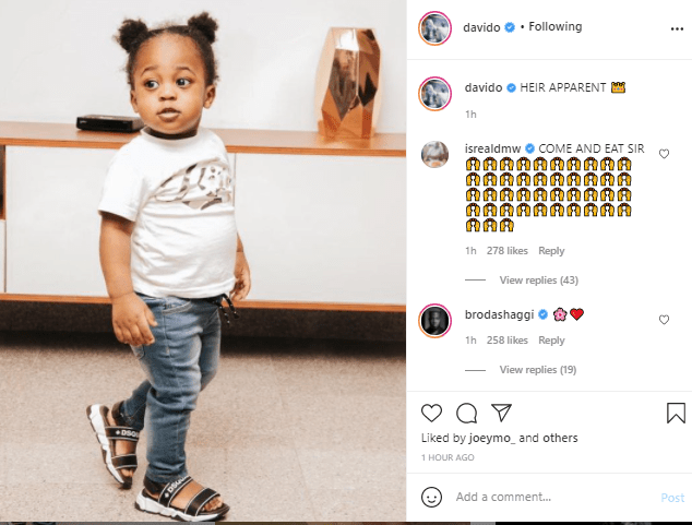 Davido names his son with Chioma, Ifeanyi, as his Heir apparent