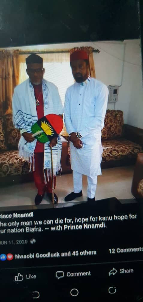 Photo of alleged mastermind of Imo attacks with Nnamdi Kanu surfaces