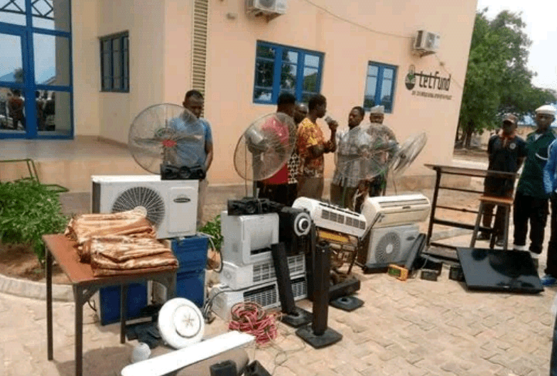 Two Bida Poly students arrested for alleged burglary and theft on campus