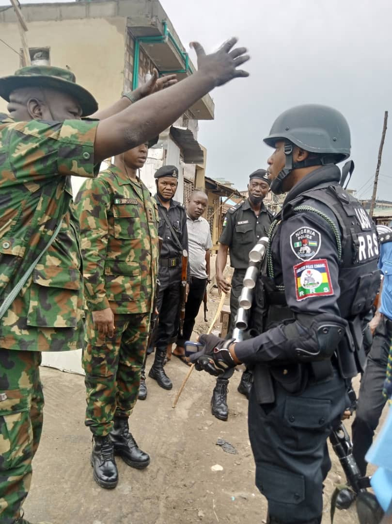 Police arrests 48 suspects after hoodlums invaded the streets of Mile 12 and caused chaos