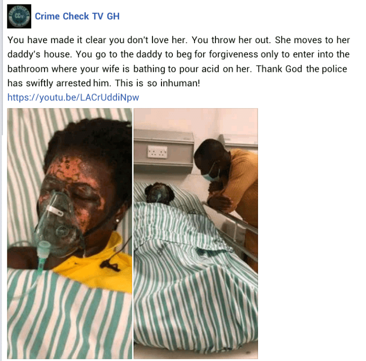 Man allegedly bathes wife with acid in Ghana